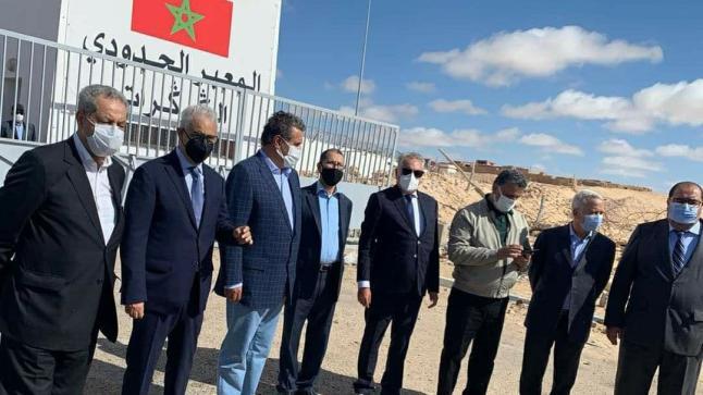 أمناء الأحزاب المغربية يقومون بزيارة للكركرات
