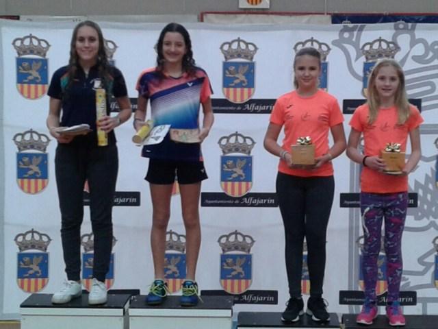 Laura Anglada y Thaís Daroca segundas en el Master de Alfajarín Sub-13