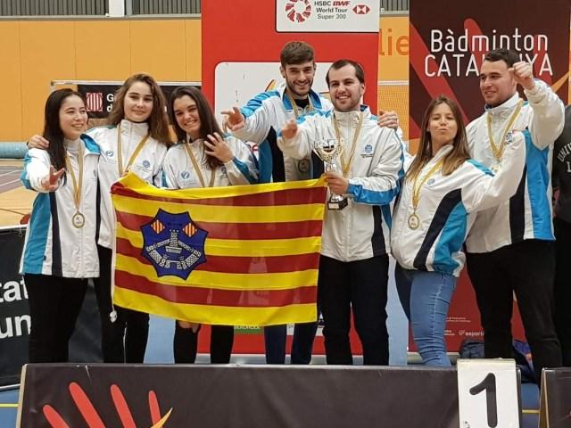 Menorca se proclama campeóna de la Liga catalana de Badminton