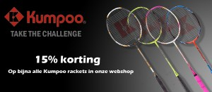 15% korting op Kumpoo Rackets