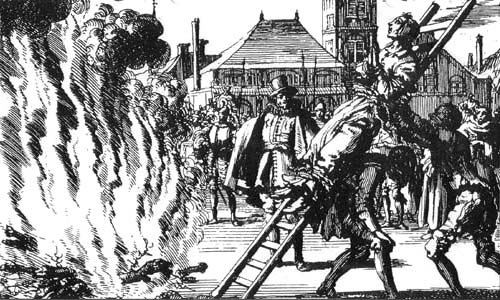 Image result for image of persecution of catholic heretics