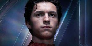 avengers infinity war spider-man busto
