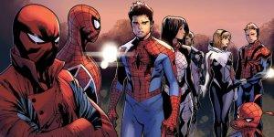 Spider-Verse splash page