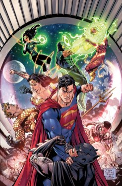 Justice League #7, copertina di Tony S. Daniel