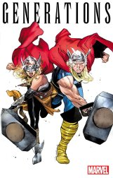 Generations: The Unworthy Thor & The Mighty Thor #1, variant cover di Olivier Coipel
