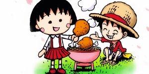 Maruko e Rufy, bozzetto di Eiichiro Oda
