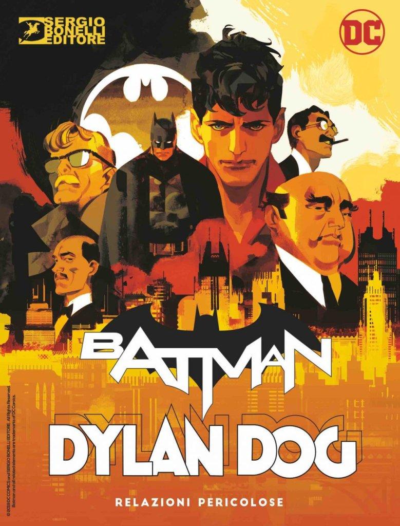 Batman/Dylan Dog: Relazioni pericolose, copertina di Gigi Cavenago (cover Heroes)