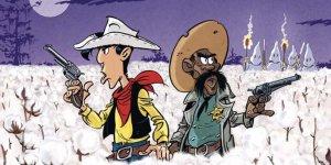 Lucky Luke: Un cow-boy dans le coton, copertina di Achdé