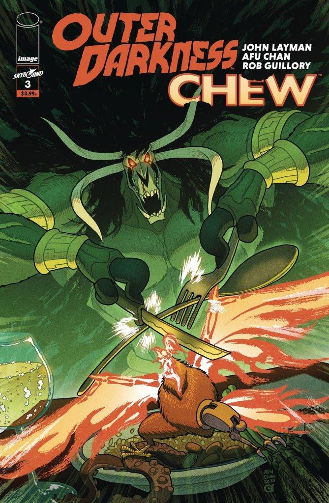 Outer Darkness/Chew #3, copertina di Afu Chan
