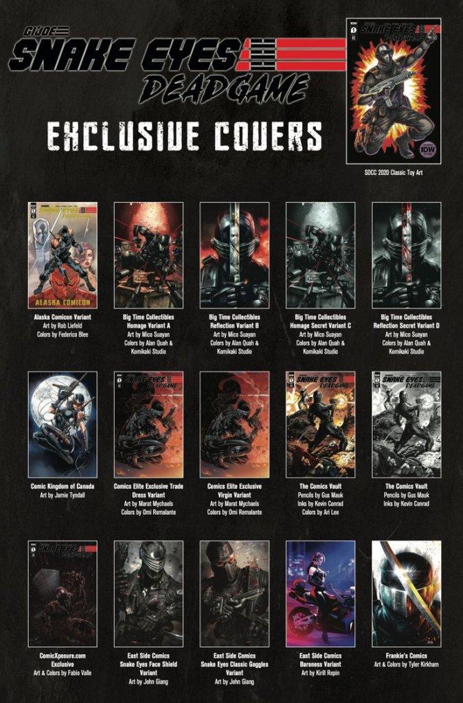 Snake Eyes: Deadgame #1, variant cover