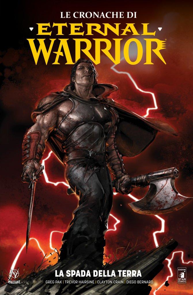 Le cronache di Eternal Warrior vol. 1: La Spada della Terra, copertina di Clayton Crain