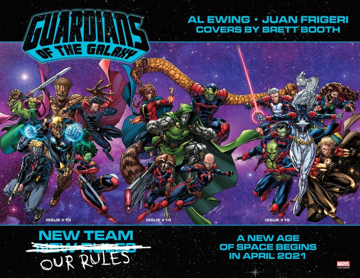Guardians of the Galaxy, copertina panoramica di Brett Booth