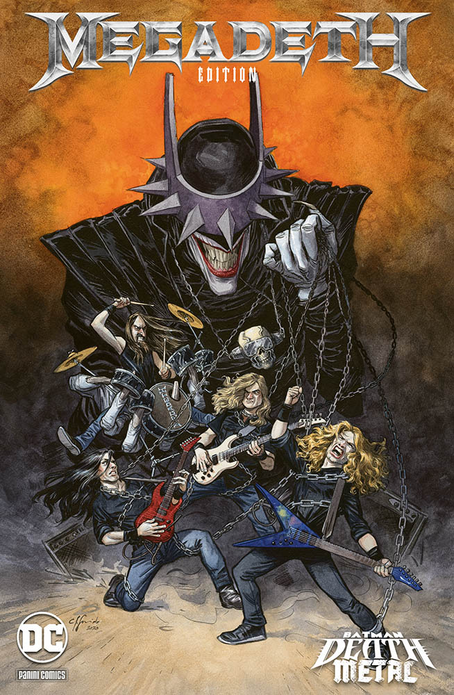 Batman: Death Metal 1, variant Megadeth di Juanjo Guarnido