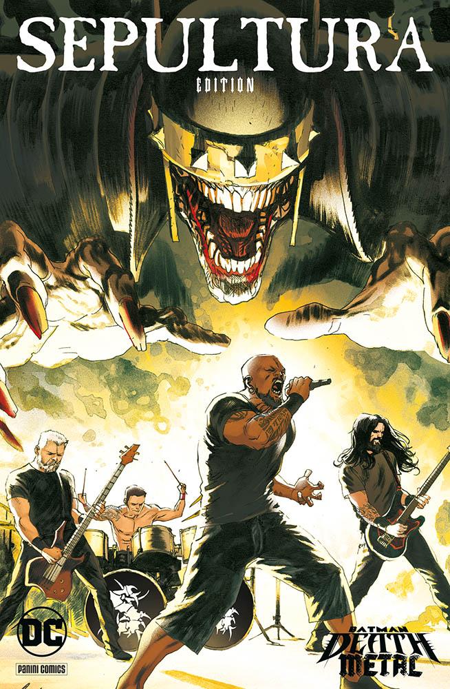 Batman: Death Metal 5, variant Sepultura di Rafael Albuquerque