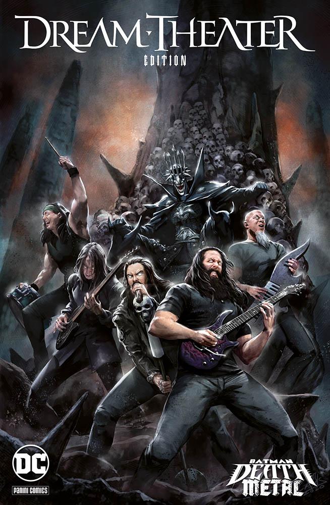 Batman: Death Metal 6, variant Dream Theater di Santi Casas