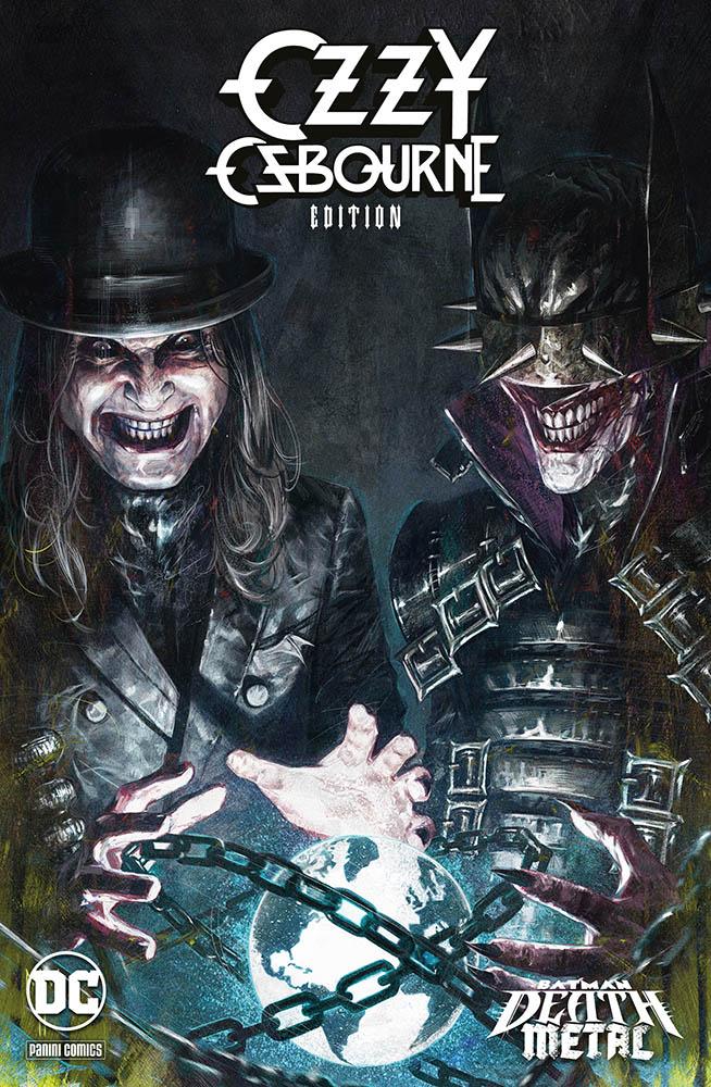 Batman: Death Metal 7, variant Ozzy Osbourne di Marco Mastrazzo