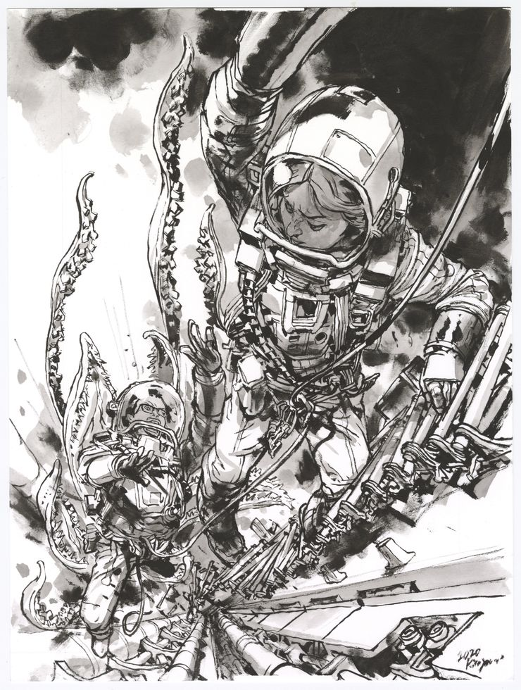 Deep Beyond #3, variant cover di Kim Jung Gi (matite)
