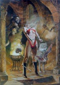 Vampirella, variant cover di J.G. Jones