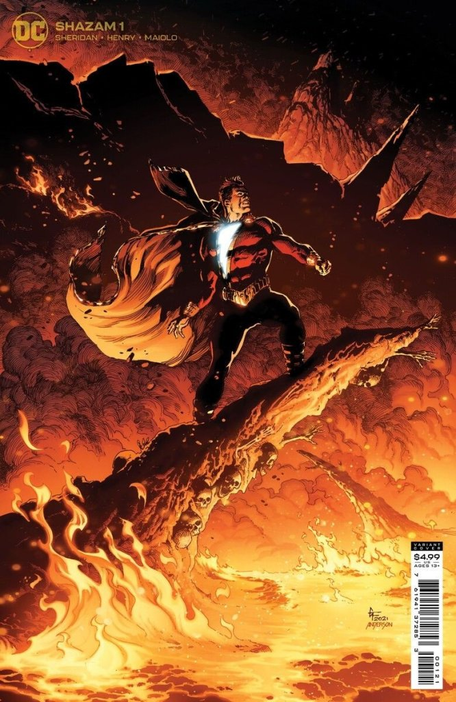 Shazam #1, variant cover di Gary Frank