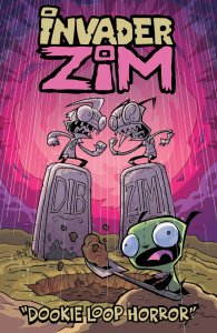 Invader Zim: The Dookie Loop Horror, copertina di Jhonen Vasquez