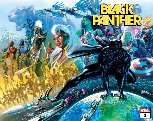 Black Panther #1, copertina di Alex Ross