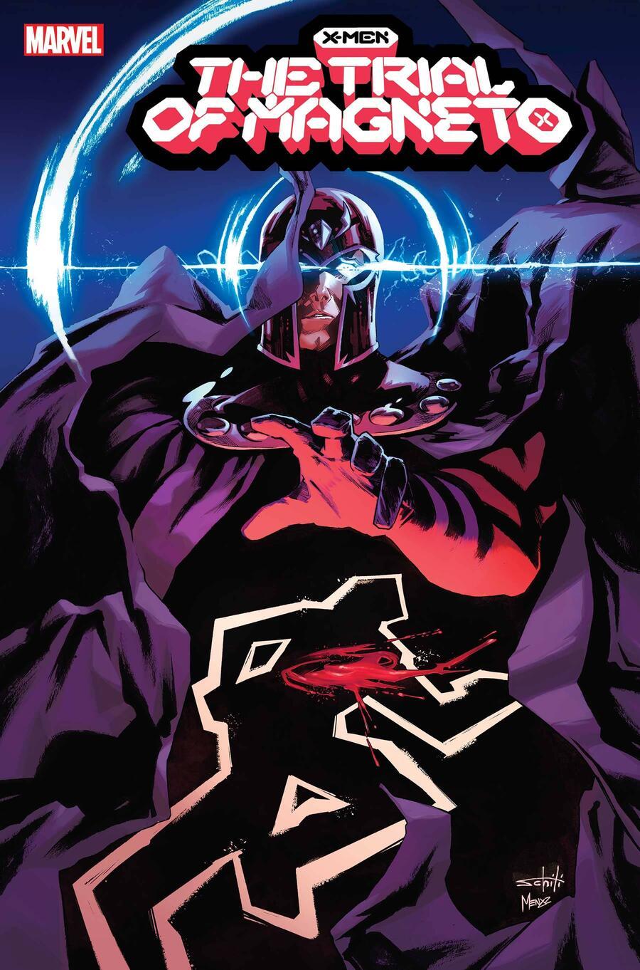 X-Men: Trial of Magneto #1, copertina di Valerio Schiti