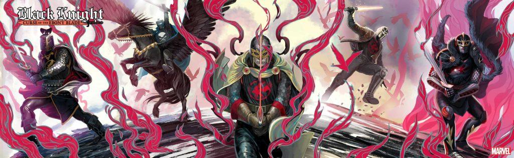 Black Knight: Curse of the Ebony Blade, variant panoramica di Stephanie Hans