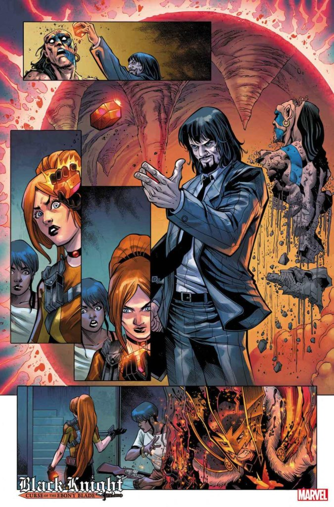 Black Knight: Curse of the Ebony Blade #4, anteprima 01