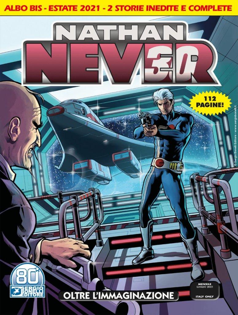 Nathan Never 361 BIS: Oltre l'immaginazione, copertina di Sergio Giardo
