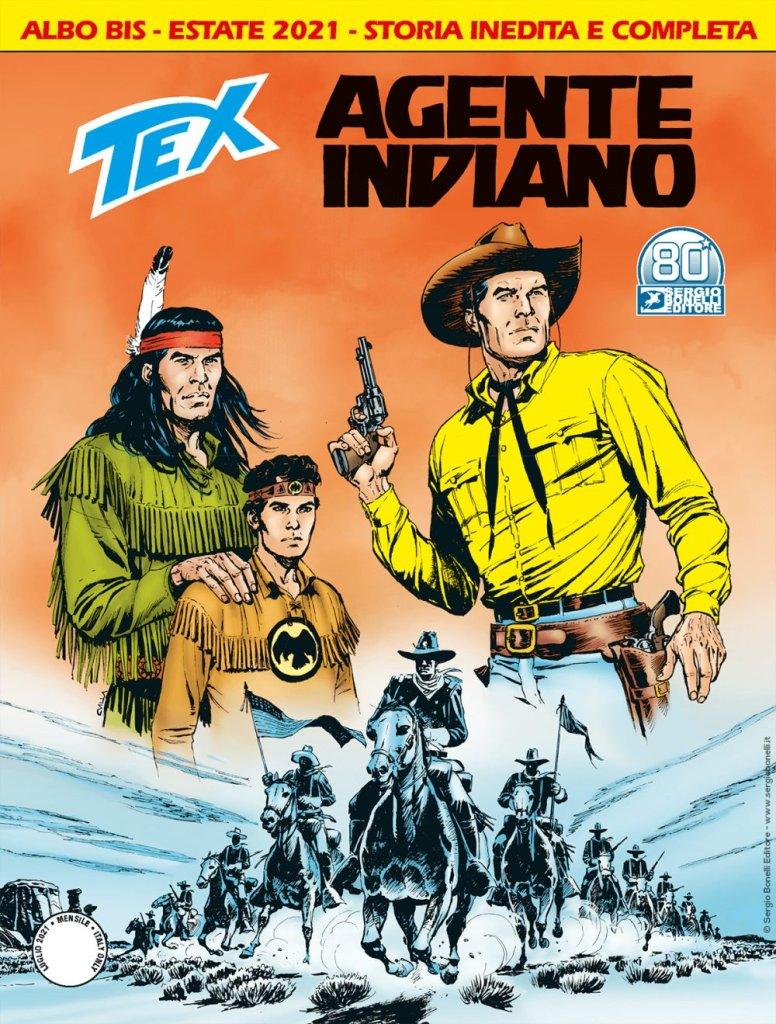 Tex 729 BIS: Agente indiano, copertina di Claudio Villa