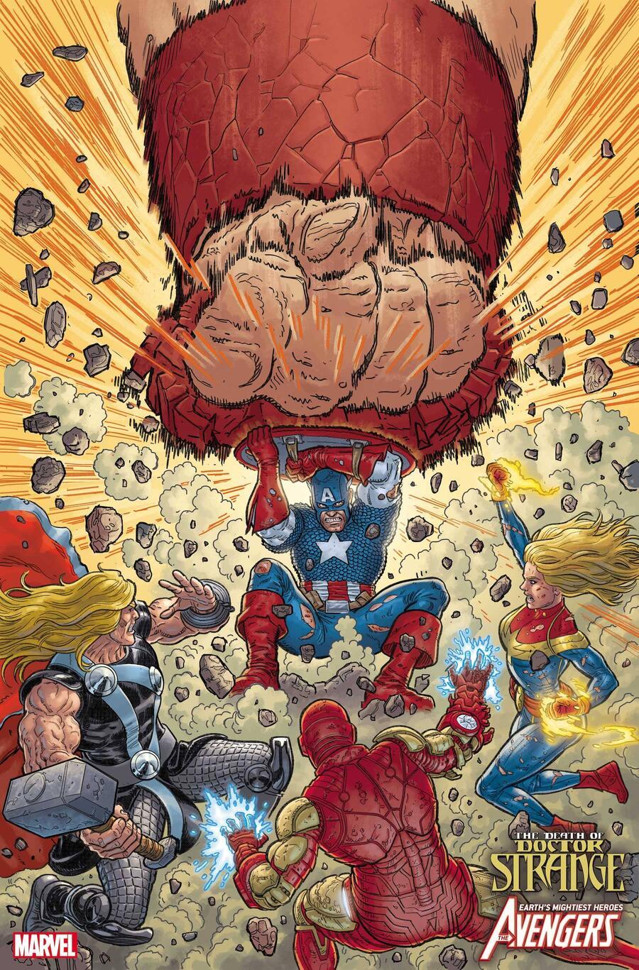 Death of Doctor Strange: Avengers #1, copertina di Steve Skroce