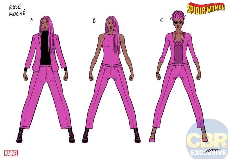Spider-Woman, Rose Roche character design di Pere Perez