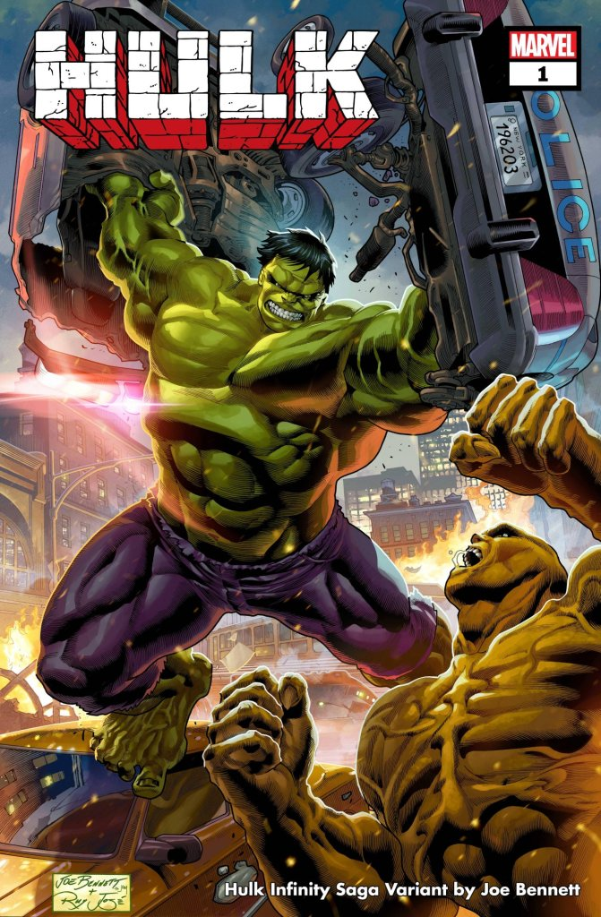Hulk #1, variant cover di Joe Bennett
