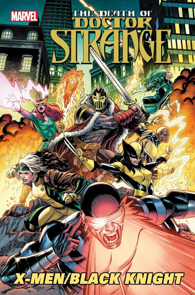 The Death of Doctor Strange: X-Men/Black Knight #1, copertina di Cory Smith