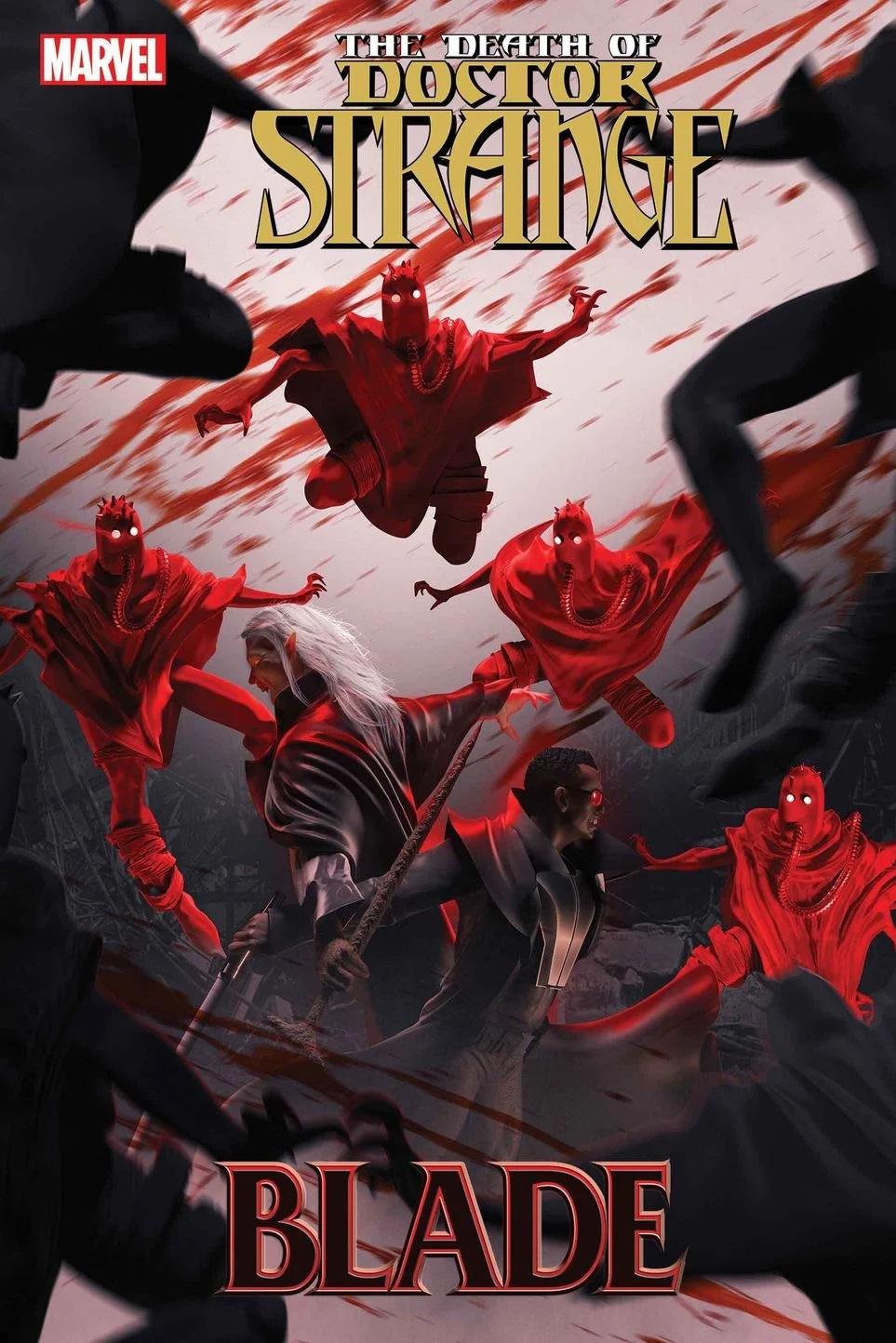 The Death Doctor Strange: Blade #1, copertina di Bosslogic