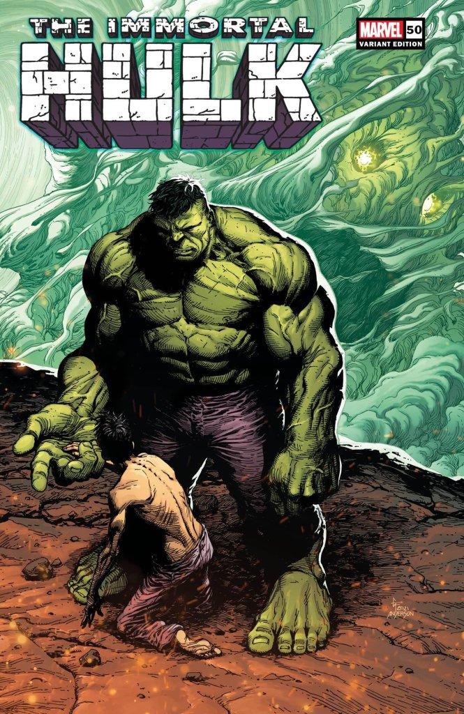 Immortal Hulk #50, variant cover di Gary Frank