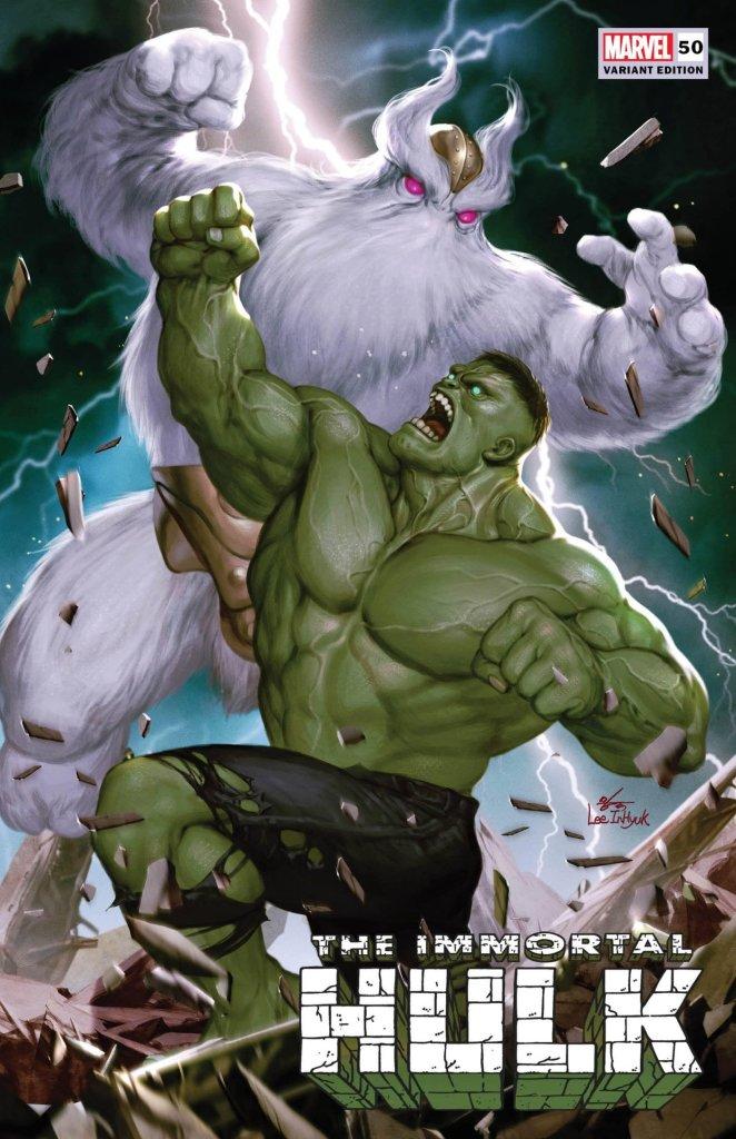 Immortal Hulk #50, variant cover di Inhyuk Lee