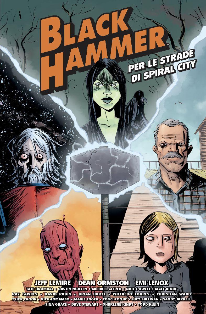 Black Hammer: Per le strade di Spyral City, copertina di Jeff Lemire