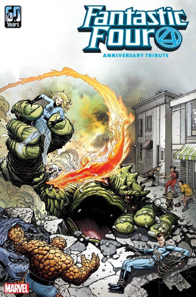 Fantastic Four: Anniversary Tribute' #1, copertina di Steve McNiven
