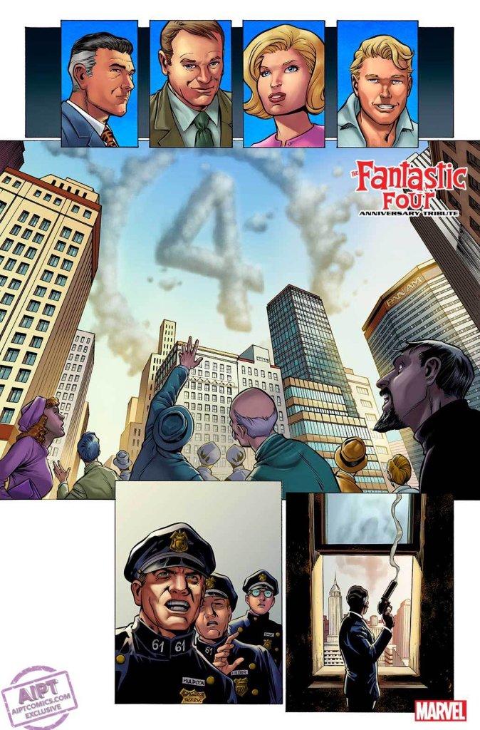 Fantastic Four Anniversary Tribute #1, anteprima 01