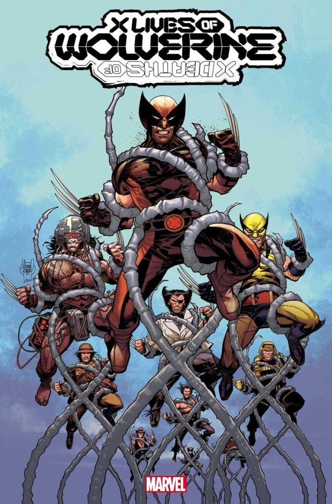 X Lives of Wolverine #1, copertina di Adam Kubert