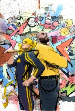 Power Man and Iron Fist #3, copertina variant di Keron Grant