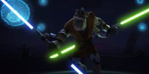 Star Wars spada laser doppia rey