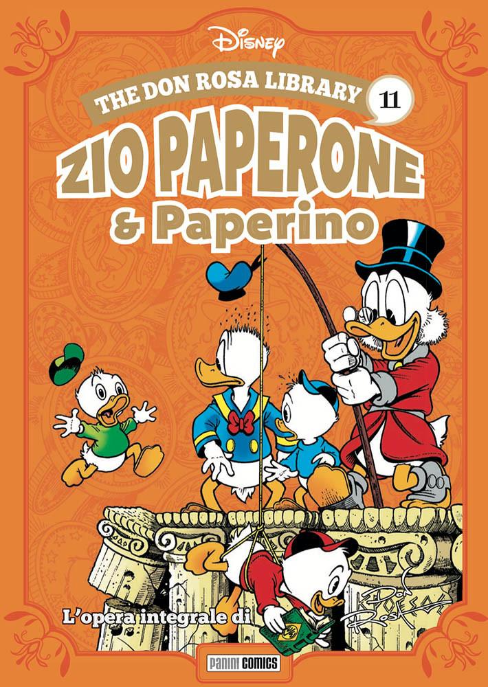 The Don Rosa Library: Zio Paperone e Paperino vol. 11, copertina di Don Rosa