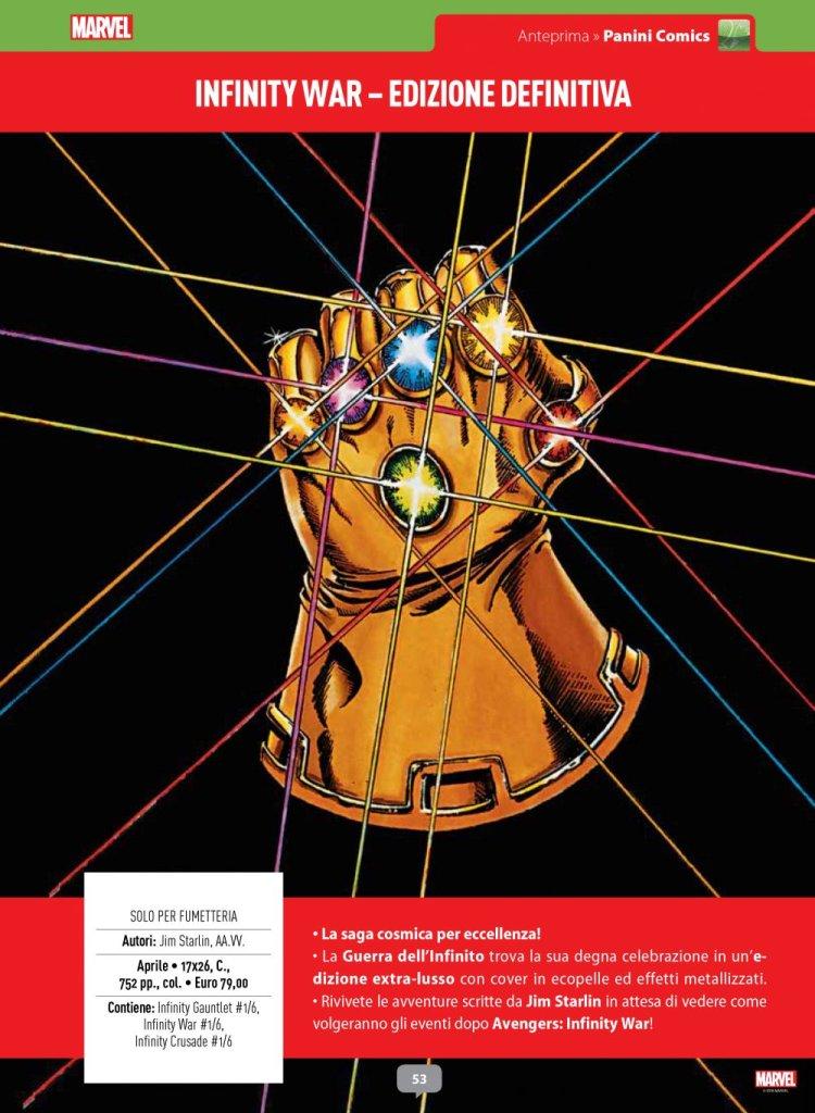 Infinity War - Edizione Definitiva su Anteprima