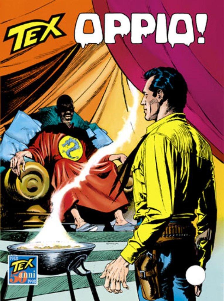Tex 451: Oppio!, copertina di Claudio Villa