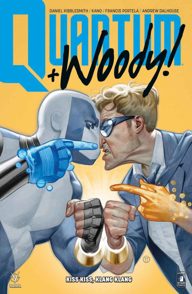 Quantum & Woody vol. 1: Kiss Kiss, Klang Klang, copertina di Julian Totino Tedesco