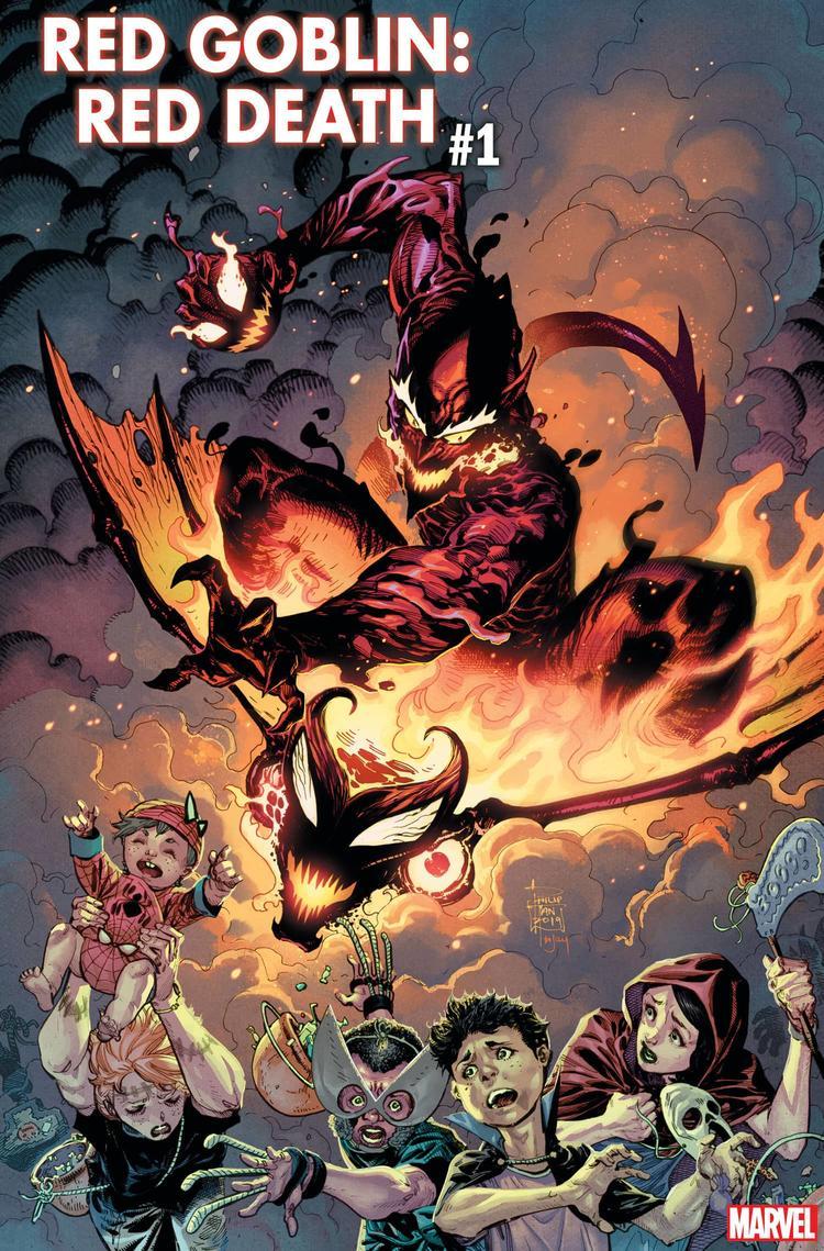 Red Goblin: Red Death #1, copertina di Philip Tan