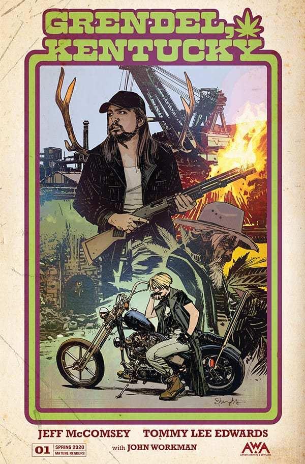 Grendel, Kentucky, copertina di Tommy Lee Edwards