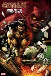 Conan: Battle for the Serpent Crown #1, copertina di Luke Ross